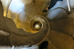 Spiral staircase in the nativity tower.