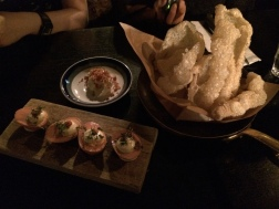 A small restuarant near our place called Nose2tail. Pork crackling and deviled eggs were quite nice.